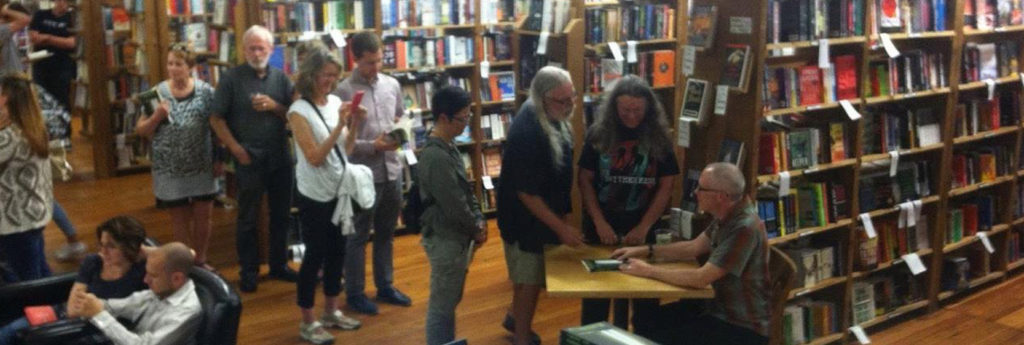 Book signing at Elliott Bay Books, Seattle